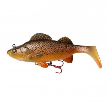 Swimbait Natural Perch Paddle Tail DAM Effzett 140mm 47g Brown Trout