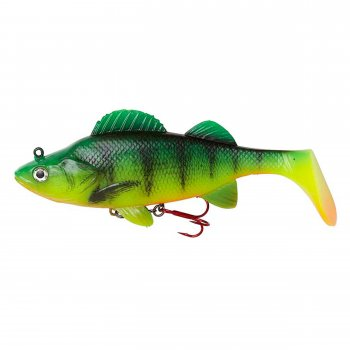 Swimbait Natural Perch Paddle Tail DAM Effzett 140mm 47g Fire Perch