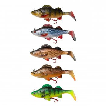 Swimbait Natural Perch Paddle Tail DAM Effzett 140mm 47g Roach