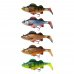 Swimbait Natural Perch Paddle Tail DAM Effzett 140mm 47g Perch